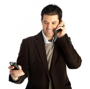 Multitasking Isolated Businessman